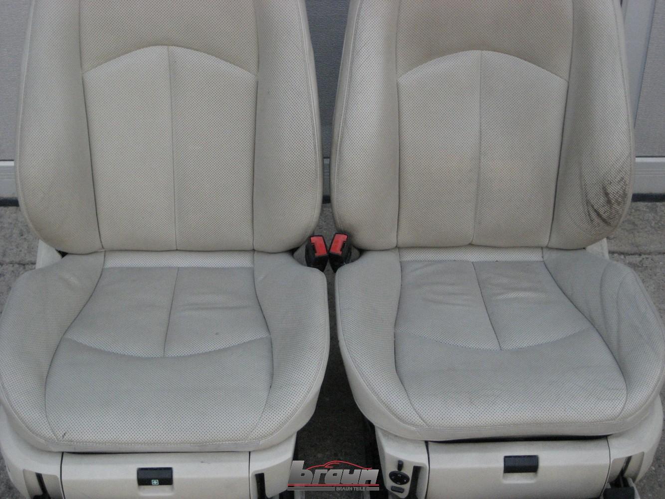 lederausstattung ledersitze kiesel beige mercedes e klasse w211 s211 kombi innenausstattung sitze. Black Bedroom Furniture Sets. Home Design Ideas